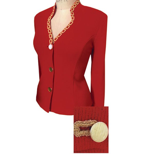 Solini Red Knit Jacket-6720