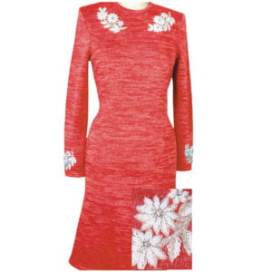 Solini Red Knit Dress-LC6725